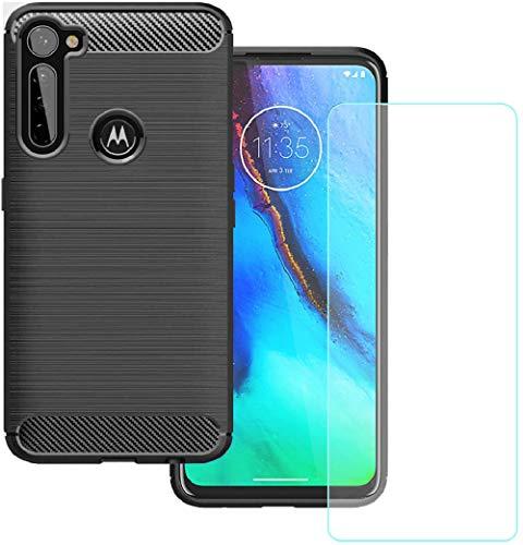 KZIOACSH Funda para Motorola Moto G Pro/Moto G Styus + Cristal Templado, Carcasa con Absorción de Impacto,TPU Silicona Cover Motorola Moto G Pro/Moto G Styus
