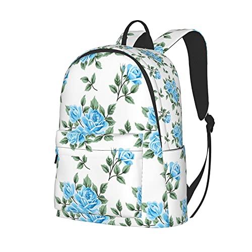 Marat Mochila Para Flores Peonía Crisantemo Orquídea Rosa Encaje Pintura Empalme Gran Capacidad Niños Adolescentes Escuela Multifunción Unisex