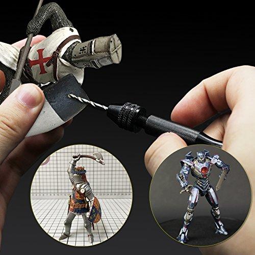 Pin Vise Hand Drill Bits(20PCS), Micro Mini Twist Drill Bits Set with Precision Hand Pin Vise Rotary Tools for Wood, Jewelry, Plastic etc (0.6-3.0mm)