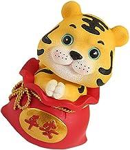 IMIKEYA Balançando A Cabeça de Tigre Estatueta: Carro Decoração Feng Shui Ornamento 2022 Tigre Do Zodíaco Chinês Do Ano De...