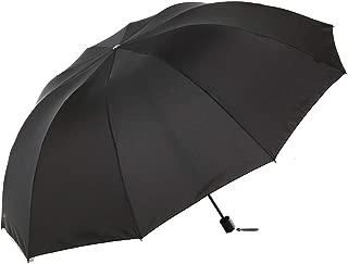 Paradise 10 Ribs Windproof Travel Umbrella,60 Inch Extra Large Folding Umbrella(Black)