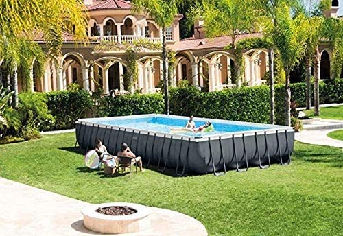 Draagbaar zomer Duurzaam gereedschap Ultra XTR 32ft x 16ft x 52 'rechthoekig frame bovengronds zwembad