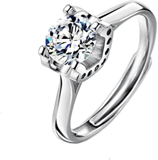 Neoglory Cubic Zirconia CZ Sterling Silver 925 Wedding Engagement Ring