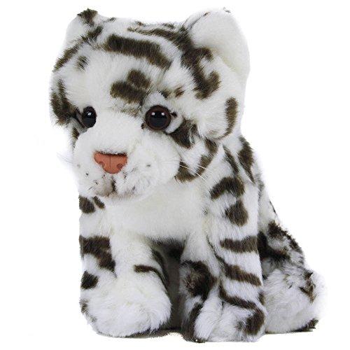 Teddys Rothenburg Kuscheltier Schneeleopard 30 cm weiß/schwarz Plüschschneeleopard