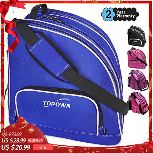 TOPOWN Inline & Ice Skate Bag for Boys and Girls Men Inline Skate Bag Blue Women Roller Skate Bag Premium Black Ice Skate Bag Rose Red Pink Inline Skate Bag