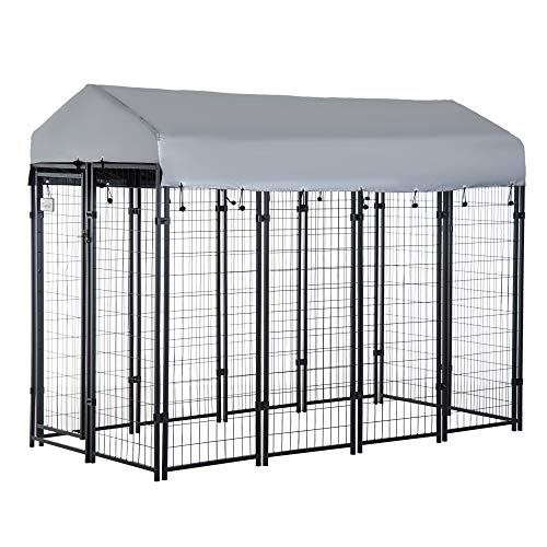 PawHut 8' x 4' x 6' Large Outdoor Dog Kennel...