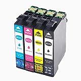 Cartuchos de Tinta Compatible para Epson 603XL 603 XL paraEpson XP-3100 XP-4100 XP-3105 XP-4105 WF-2810 WF-2830 WF-2835 WF-2850(1Negro, 1Cian, 1Magenta, 1Amarillo)