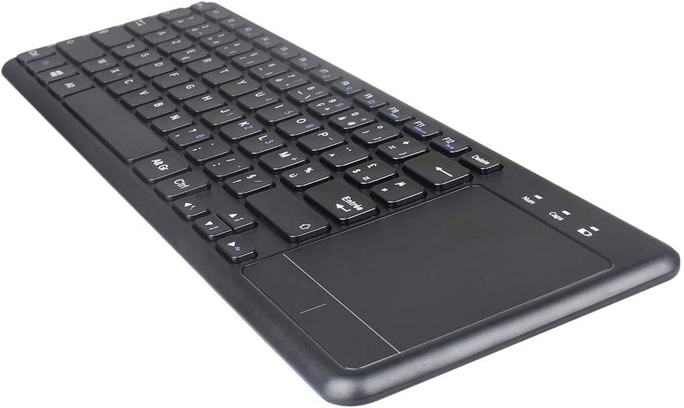 Xiaoa 2.4GHz Wireless Mini Touchpad Keyboard French Keyboard for PC Smart TV Android Suitable for AIl-in-ONE Computers,Laptops,Desktops,etc.