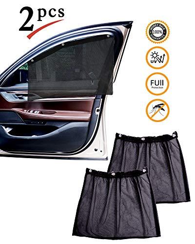 protección Solar Coche bebé con protección UV (Juego de 2) - Parasol Coche niños - Coche Ventana protección Solar - Parasol para niños