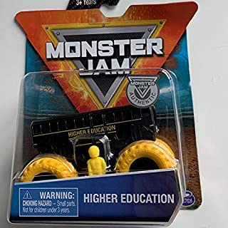 MJ Monster Jam 1:64 Black/Yellow Higher Education with Figure