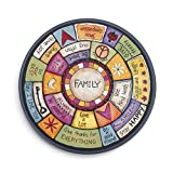 DEMDACO Family Values Love Kind Peace Multicolored 18 x 18 Wood Composite Lazy Susan