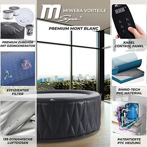 Miweba MSpa Premium Mont Blanc P-MB06 aufblasbarer Whirlpool - Bild 4