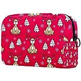 Bolsa de Maquillaje para niños Ciervo de Navidad Accesorio de Viaje Neceser Pequeño Bolsas de Aseo Suave al Tacto Cosmético Organizadores de Viaje 18.5x7.5x13cm