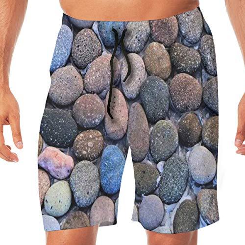 Wearibear Ganso suave piedra en el agua bañador bañador para hombre de secado rápido, pantalones cortos transpirables para ropa deportiva