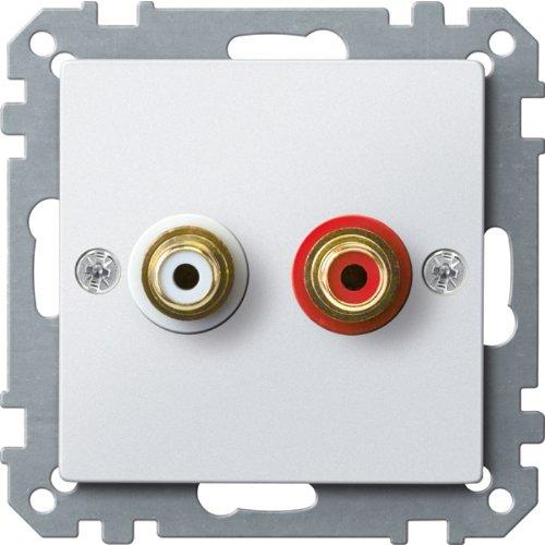 Merten MEG4350-0419 stopcontact voor audio-aansluiting, poolwit, systeem M