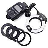 Yongnuo YN-14EX Macro Ring TTL Flash Light Luz + Adaptador for Canon DSLR 6D 7D LF464