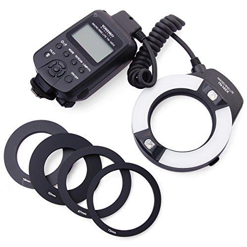 Yongnuo YN-14EX Macro Ring LED TTL Flash Light + Adapter Ring/Anello adattatore + Protettivo Custodia Borsa Caso Per Camera Canon DSLR 5D3 50D 60D 600