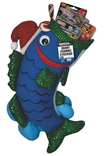 RIGRAP Blue Merry Fishmas Stocking, 22'+ x 12'