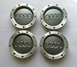 Juego de 4 metal ligero Cilindro de Badges Central Tapacubos 146 mm 8d0601165 K A2 A4 A6 S6 RS6 TT y otros modelos