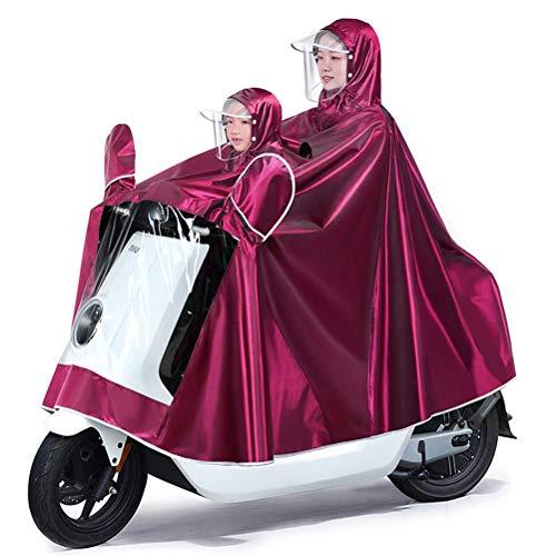 Dubbele persoon waterdichte motorfiets Poncho, herbruikbare Oxford regendicht Wind regen Poncho regen Capes voor fietsen fiets motorfiets Scooter buiten