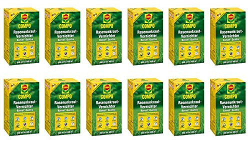 COMPO Rasenunkraut-Vernichter Banvel Quattro 4,8 l - bekämpft wirkungsvoll breitblättrige Unkräuter im Rasen.