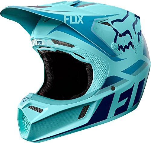 Fox V3Seca Bleu Glacier Glen Helen Édition limitée Casque Cross, Bleu Glace