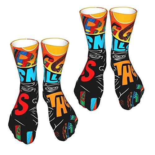 Biggie Smalls The Notorious B.I.G. Herren Damen 3D Druck Neuheit Lustig Crazy Colorful Athletic Socks Crew Tube Socks – 2er-Pack