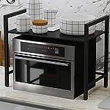 KQP Forno A Microonde RackMetal Microwave Oven Stand Rack Stand Shelf Kitchen Tableware Storage Organizer Holder For Kitchen Bedroom BathroomPortaoggetti Multifunzionale Da Cucina