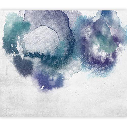 murando Fotomurales autoadhesivos Abstracto 343x256 cm Papel Pintado Decoración de Pared Murales Pegatina decorativos adhesivos 3d Fotográfico Violeta Azul Gris Como Pintado f-A-0890-a-c