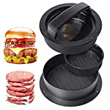 Cyleibe Burgerpresse Set, Adsshopp Burger Maker Hackfleisch pressen 3 in 1 für Hamburgerpresse Grill