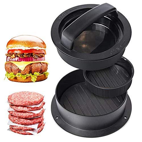 Cyleibe Burgerpresse Set, Adsshopp Hamburgerpresse Burger Maker Hackfleisch pressen 3 in 1 für Hamburgerpresse Grill Gemüseburger