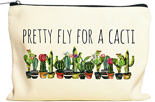 Pretty Fly For A Cacti Makeup Bag, Cactus Gift For Women, Cactus Gift, Succulent