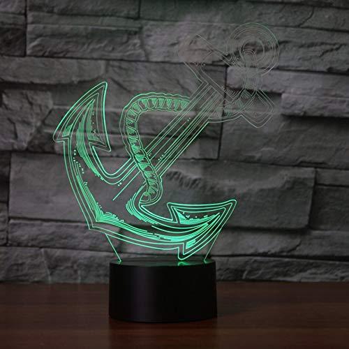 Navigation Night Light 3D LED USB Lámpara de mesa regalo de cumpleaños para niños decoración de la habitación junto a la cama