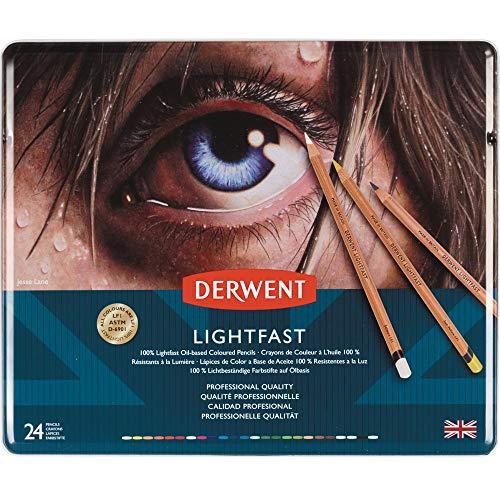 Derwent 2302720 lichtechte Buntstifte, 24 Stück, Profi-Qualität