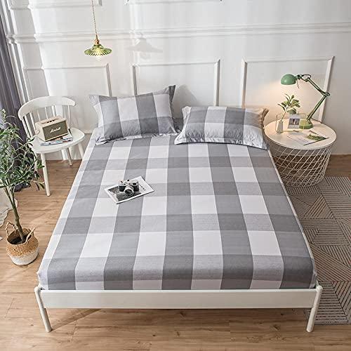 CYYyang Protector de colchón - cubrecolchón Transpirable La sábana de algodón a Prueba de Polvo -30_120cm × 200cm.