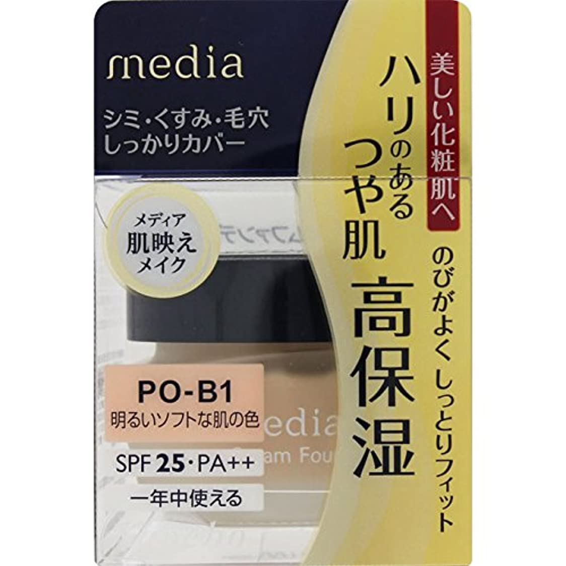 ナイトスポット植物の居眠りするカネボウ化粧品 メディア クリームファンデーション 明るいソフトな肌の色 POーB1