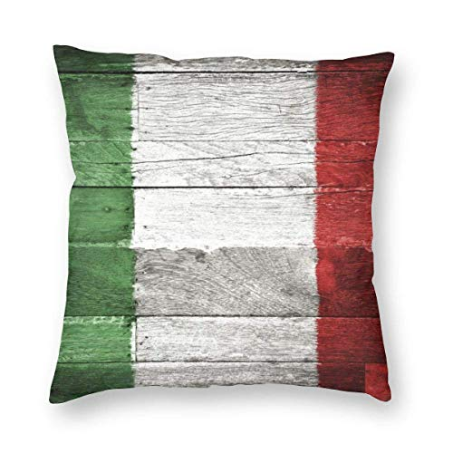 Moily Fayshow Square Throw Pillow Case Decorative Cushion Cover Pillowcase Queen,Vintage Italian Flag,40 X 40 Cm