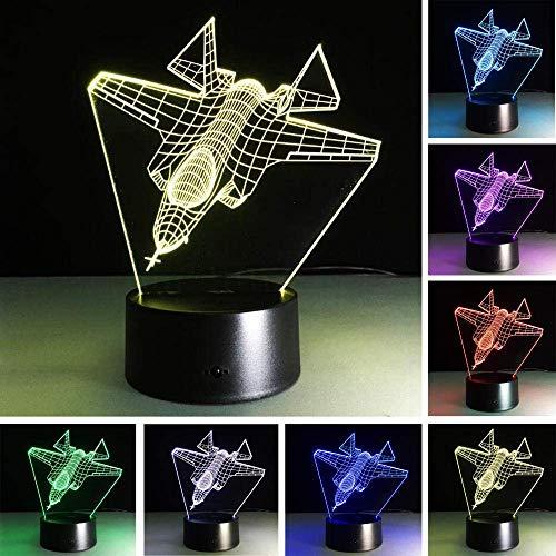 LBMTFFFFFF Lámpara de Luz de Noche Lámpara de Ilusión 3D Lámpara de Mesa de Luz de Noche Led