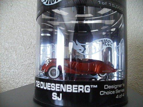 Hot Wheels 32 Duesenberg Sj Limited Edition Metalflake Orange Designer's Choice Series 4 Oil Can by Hot Wheels