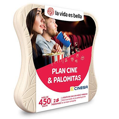 LA VIDA ES BELLA - Caja Regalo Amor para Parejas - Plan Cine & Palomitas - Ideas Regalos Originales - 2 entradas de Cine con menú y Bebidas para 2 Personas