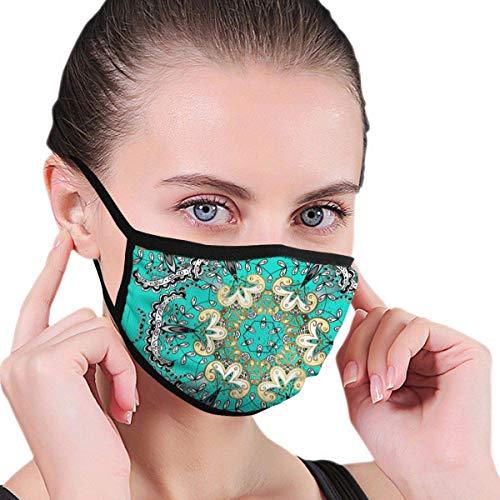 Traditionelle Orient-Verzierung. Goldenes Muster auf blauem Hintergrund mit goldenen ElementenHalbe Gesichtsmaske MundmaskenMaske