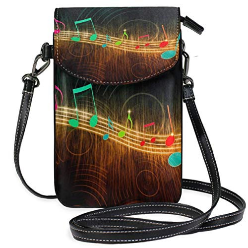 XCNGG Music Note Stripe Cell Phone Purse Crossbody Bag Pouch Shoulder Bags Wallet for women Girls Travel Wedding