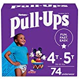 Pull-Ups Boys' Potty Training Pants Training Underwear Size 6, 4T-5T, 74 Ct