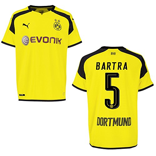 PUMA BVB Borussia Dortmund Trikot 3rd Herren 2016/2017 - Bartra 5, Größe:L