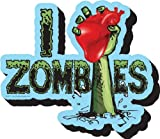 Aquarius I Heart Zombies Chunky Magnet