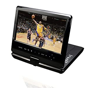 Portable 10-Inch Blu-Ray DISC/DVD Player (Black)