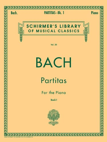 Partitas - Book 1: Piano Solo: Schirmer Library of Classics Volume 20 Piano Solo
