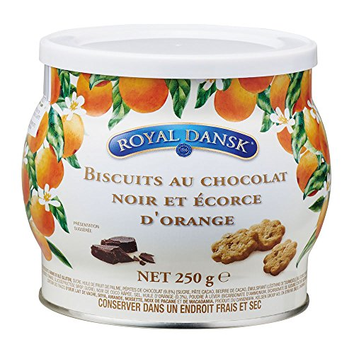 ロイヤルダンスク ダークチョコ&オレンジピールクッキー