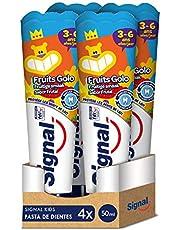 Signal Kids Pasta de Dientes Infantil Crecimiento Sabor Frutal 50mlx4
