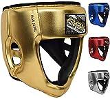 rdx bambini caschetto boxe per sparring, mma allenamento | junior metallic cuoio casco per kickboxing, pugilato, muay thai | kids copricapo per arti marziali, krav maga, karatè protezione